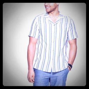 NWT Goodfellow Men's Short Sleeve Linen Shirt